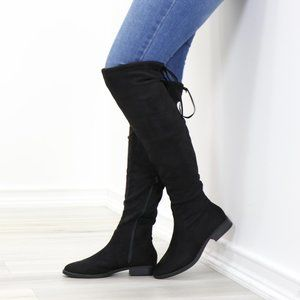 Sexy Over The Knee Boots With Lace Up Back